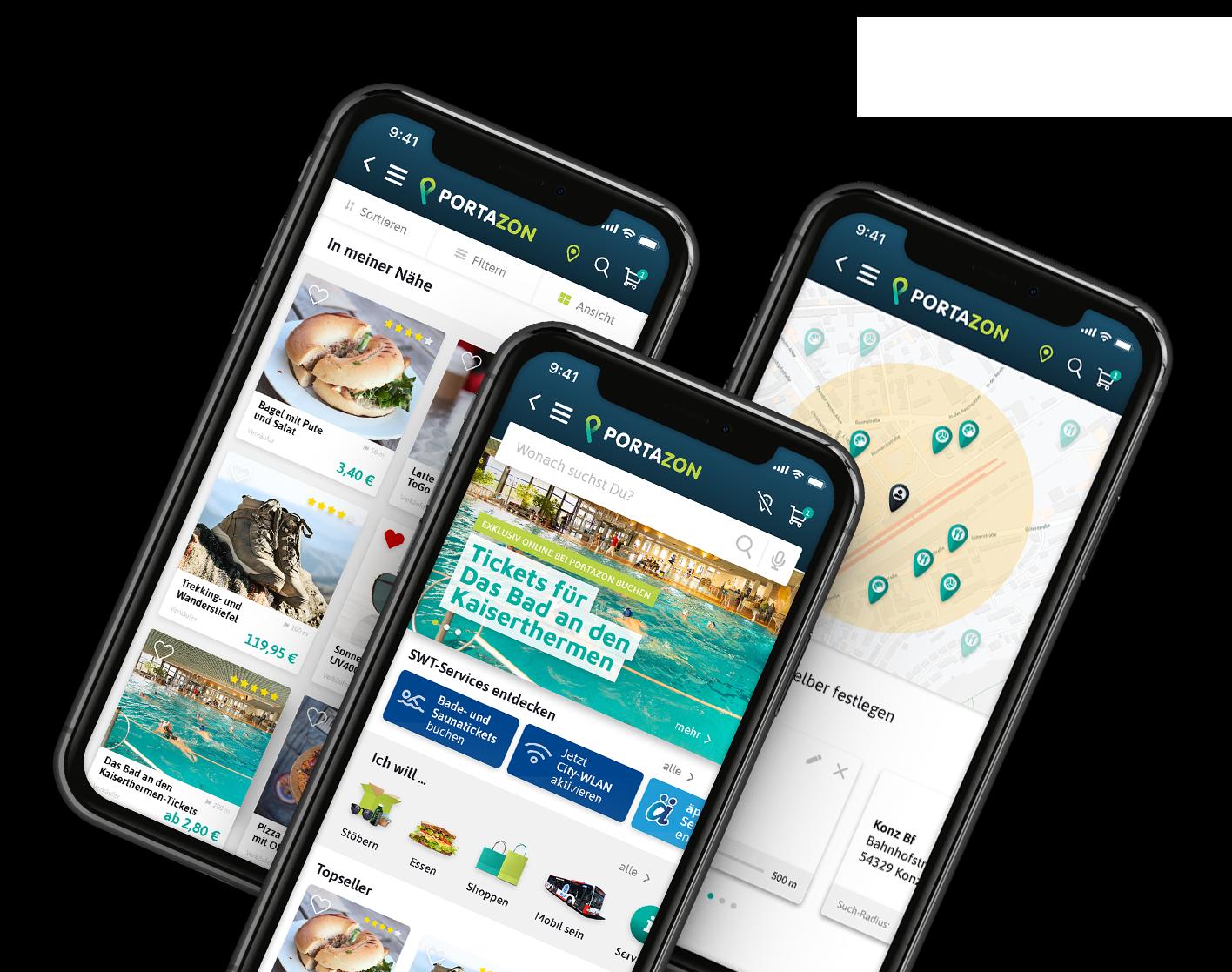 App Screens mobile
